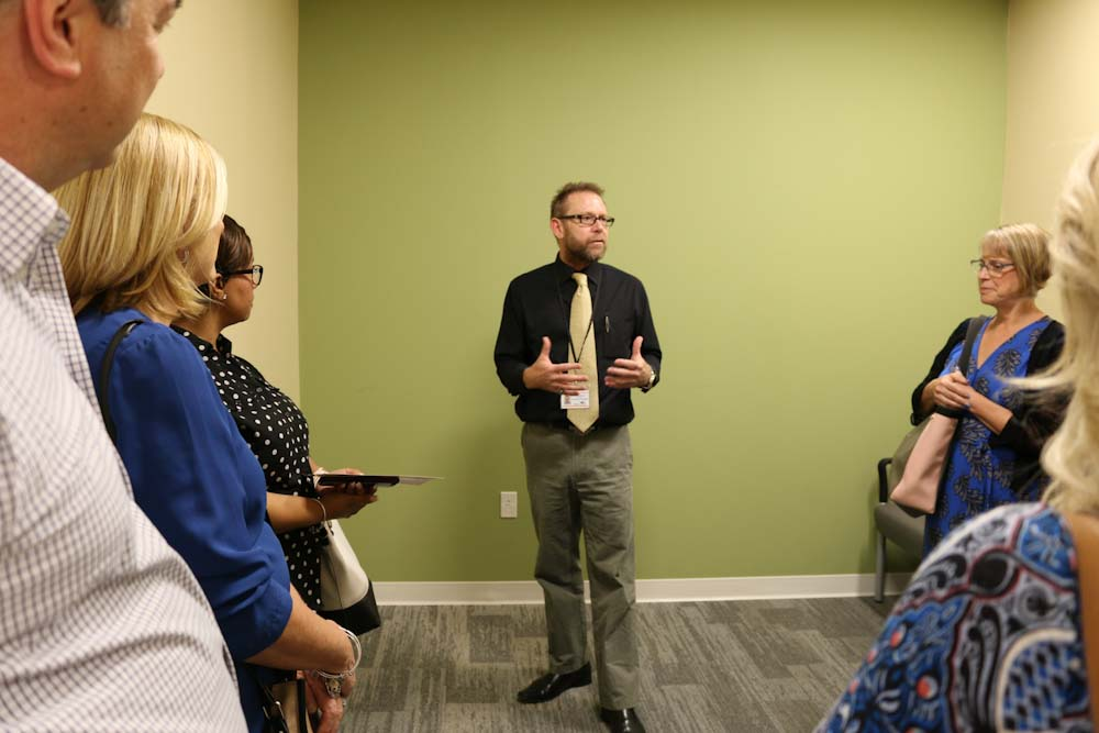 Behavioral Health Urgent Care Therapist provides a tour of the new facility.